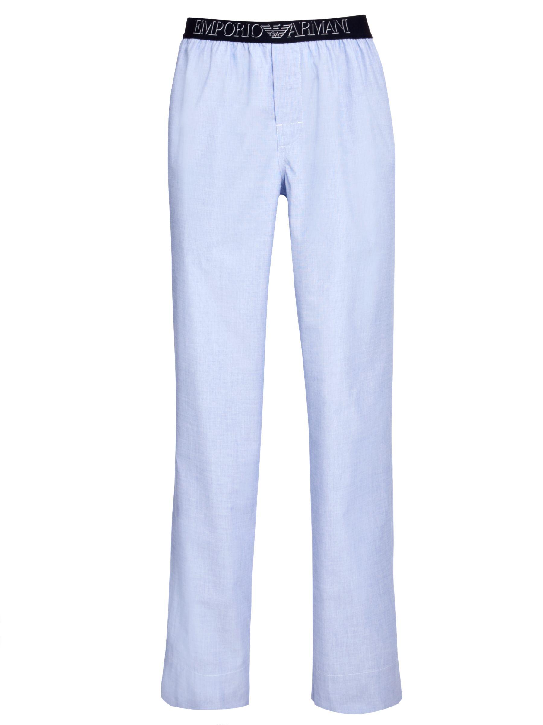 Emporio Armani Woven Lounge Pants, Blue