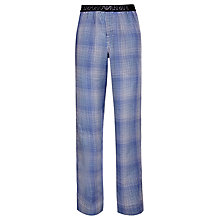 Buy Emporio Armani Woven Gingham Lounge Pants, Navy Online at johnlewis.com