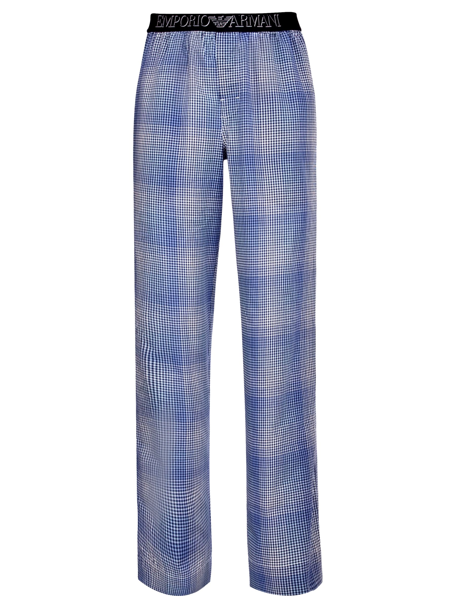 Emporio Armani Woven Gingham Lounge Pants, Navy