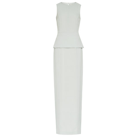 Buy Reiss Fallow Crepe Open Back Column Dress, Ice Grey Online at johnlewis.com