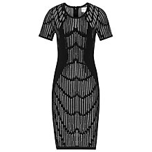 Buy Reiss Felix Detail Dress, Black Online at johnlewis.com