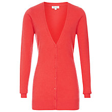 Buy Reiss Cashmere Longline Cardigan, Coral Online at johnlewis.com