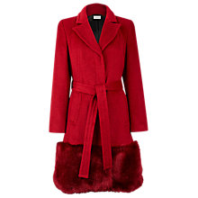 Buy Planet Fur Trim Coat, Red Online at johnlewis.com