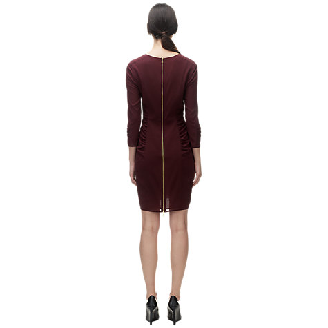 Buy Whistles Izzey Bodycon Dress, Burgundy Online at johnlewis.com