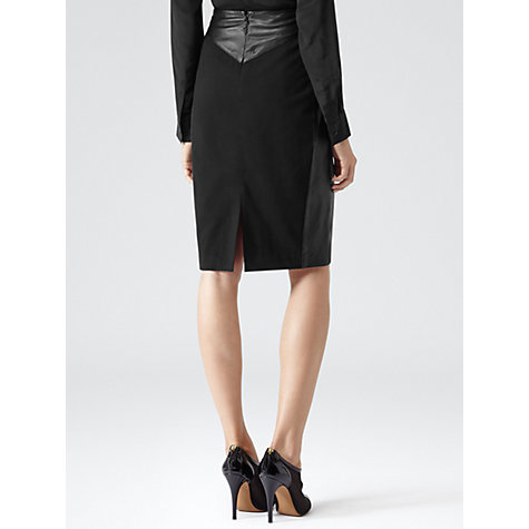 Buy Reiss Shannon Pencil Skirt, Black Online at johnlewis.com