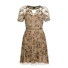 Buy Needle & Thread Dainty Tulle Dress, Taupe Online at johnlewis.com
