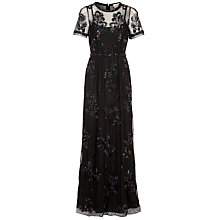 Buy Needle & Thread Tulle Maxi Dress, Black Online at johnlewis.com