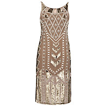 Buy Needle & Thread Geo Pearl Era Dress, Stone Online at johnlewis.com
