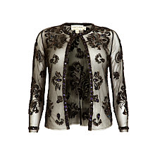 Buy Needle & Thread Dainty Tulle Jacket, Black Online at johnlewis.com