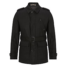 Buy Aquascutum Belted Raincoat, Black Online at johnlewis.com