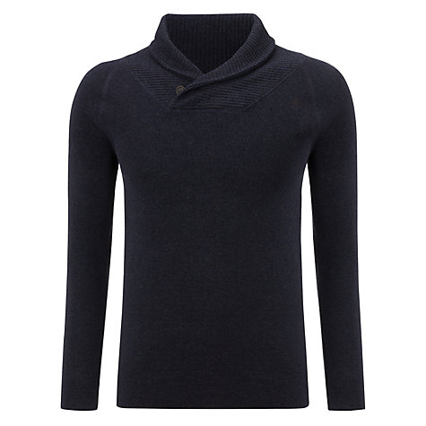 Buy G-Star Raw New Stand Shawl Neck Jumper, Mazarine Blue Online at johnlewis.com
