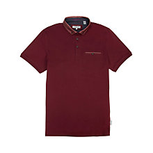 Buy Ted Baker Selsdon Polo Shirt, Plum Online at johnlewis.com