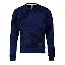 Buy G-Star Raw Union Cloud Camouflage Sweatshirt, Imperial Blue Online at johnlewis.com