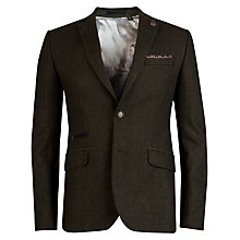 Buy Ted Baker Solijak Wool Blend Blazer, Green Online at johnlewis.com