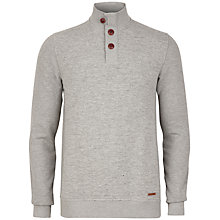 Buy Ted Baker Rommi Funnel Neck Jersey Top, Light Grey Online at johnlewis.com