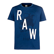Buy G-Star Raw Carter T-Shirt, Deep Sea Blue Online at johnlewis.com