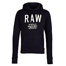 Buy G-Star Raw Ace Hooded Sweatshirt, Mazarine Blue Online at johnlewis.com
