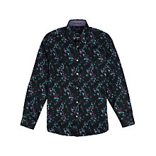 Buy Ted Baker Monet Floral Print Shirt, Black/Multi Online at johnlewis.com