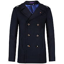 Buy Ted Baker Lolpear Wool Peacoat, Navy Online at johnlewis.com