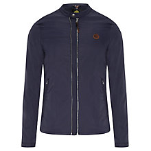Buy Pretty Green Nylon Bomber Jacket, Navy Online at johnlewis.com