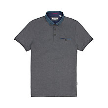 Buy Ted Baker Selsdon Polo Top, Charcoal Online at johnlewis.com