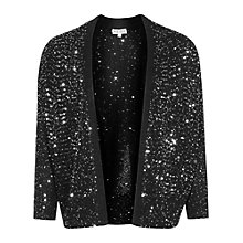 Buy Reiss Leele Cardigan, Black Online at johnlewis.com