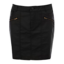 Buy Warehouse Coated Skirt, Black Online at johnlewis.com