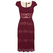 Buy Phase Eight Bessie Lace Dress, Bordeaux Online at johnlewis.com