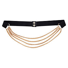 Buy Warehouse Multi Box Chain Belt, Black Online at johnlewis.com
