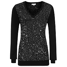 Buy Reiss Leele Jumper, Black Online at johnlewis.com