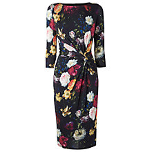 Buy Phase Eight Jemina Floral Print Dress, Black Online at johnlewis.com