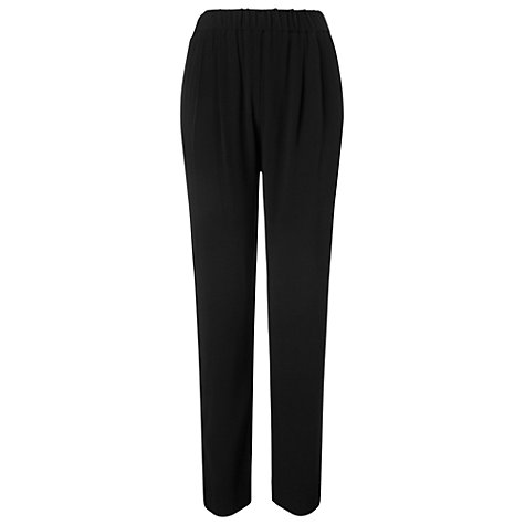 Buy Phase Eight Theodora Tapered Trousers, Black Online at johnlewis.com