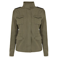 Buy Oasis Four Pocket Utility Jacket, Khaki Online at johnlewis.com
