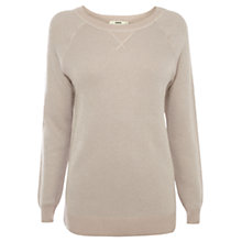 Buy Oasis Spakle Knit Jumper, Light Neutral Online at johnlewis.com