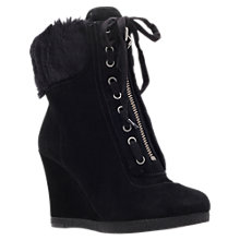 Buy Nine West Bayla Suede Wedge Heel Ankle Boots Online at johnlewis.com