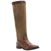 Buy Dune Tags Knee Boots, Dark tan Online at johnlewis.com