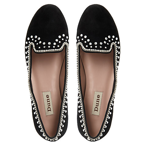 Buy Dune Lockstarr Loafer Shoes, Black Online at johnlewis.com