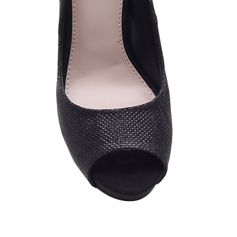 Buy Carvela Lara Peep Toe Court Shoes, Black Online at johnlewis.com