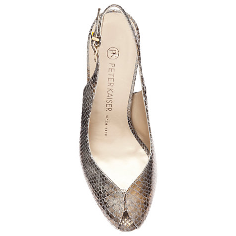 Buy Peter Kaiser Sandrie Peep Toe Slingback Court Shoes Online at johnlewis.com