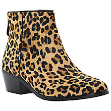 Buy Dune Peopard Ankle Boots, Leopard Online at johnlewis.com