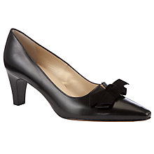 Buy Peter Kaiser Leola Leather Court Shoes, Black Online at johnlewis.com