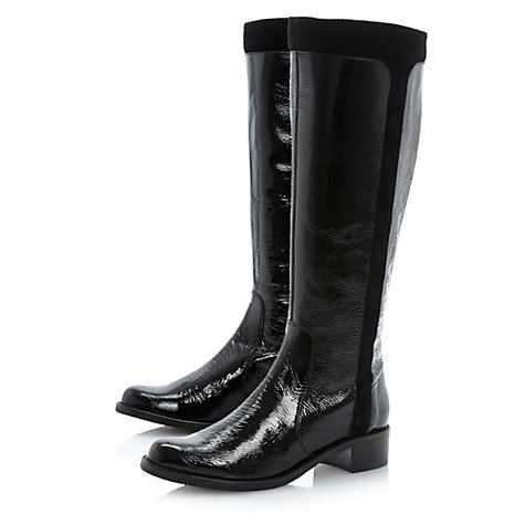 Buy Dune Trott Knee Boots, Black Online at johnlewis.com