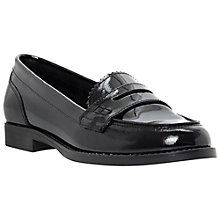 Buy Dune Lexus Penny Loafers, Black Patent Online at johnlewis.com