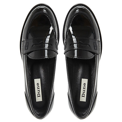 Buy Dune Lexus Loafer Shoes, Black Online at johnlewis.com