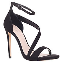 Buy Carvela Gosh Curved Strap Stiletto Sandals, Black Online at johnlewis.com