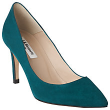 Buy L.K. Bennett Florete Chisel Toe Court Shoes, Suede Peacock Online at johnlewis.com