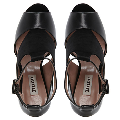 Buy Dune Helia Suede Sandals, Black Online at johnlewis.com