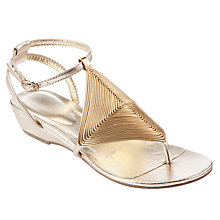 Buy John Lewis May Diamond Weave Sandals, Gold Online at johnlewis.com