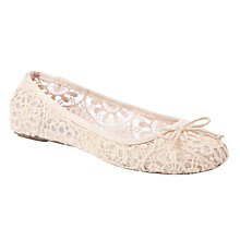 Buy Collection WEEKEND by John Lewis Romance Lace Ballerina Pumps Online at johnlewis.com