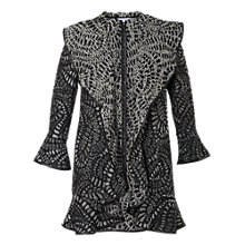Buy Chesca Paisley Jacquard Coat, Grey Online at johnlewis.com